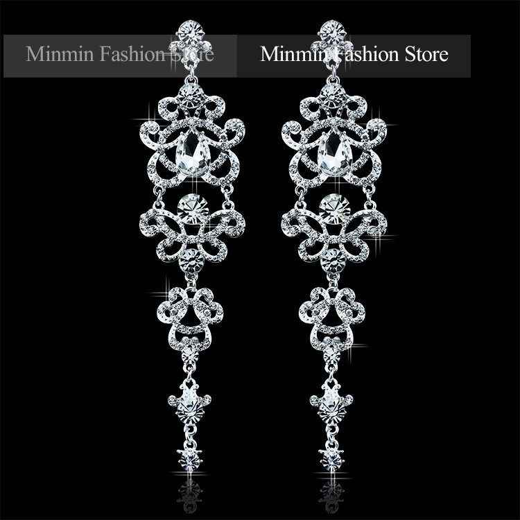 Austrian Crystal Bracelet Earrings Charming Jewelry Sets Bridal Jewelry Amazing Design Jewelry for Women Wedding EH166