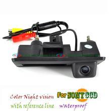 wire wireless sony ccd Car parking Trunk handle camera for Skoda Superb vw Passat B7 Golf Touran Mk 5 6 Jetta Porshce Cayenne(China (Mainland))