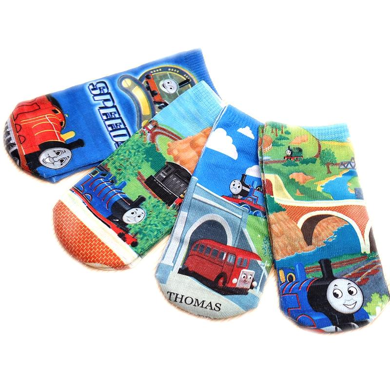 2015 Brand New Girls Socks 1 Pairs tCartoon Train Thomas Kids Socks Cotton Warm Winter High Quality 4-9 Years Children Socks