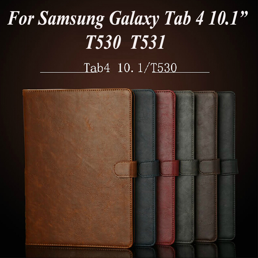 For Samsung Galaxy Tab 4 10.1 tablet T530 case,Retro Leather business case stand cover ID Card Protective shell Free shipping(China (Mainland))