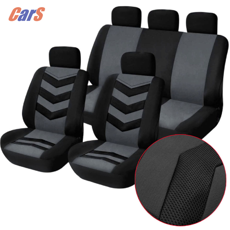 BEST Car Seat Cover Set Mesh Sponge Seat Covers Durable