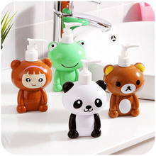 Cartoon Rilakkuma bath long beak pressure liquid bottle, cute panda lotion bottle, frog bathroom hand sanitizer bottle 250ml(China (Mainland))