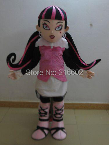 vampire draculaura mascot costumes for adults advertising mascot animal costume school mascot fancy dress costumes(China (Mainland))
