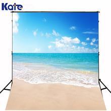 6.5x10ft(200x300cm) Kate Photography Backdrops Studio Background Baby Blue Sky Beach Resort Photo Shoot Background