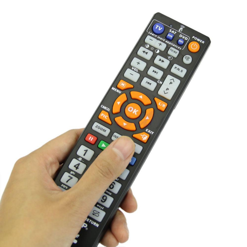 Universal Remote Control Controller With Learn Function For TV CBL DVD Television Black(China (Mainland))