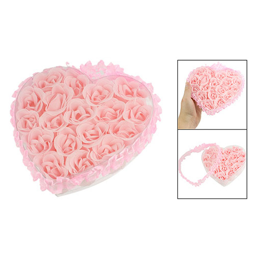 20 Pack LCLL 18 in 1 Bath Body Flower Heart Favor Soap Rose Petal Wedding Decoration Party(China (Mainland))