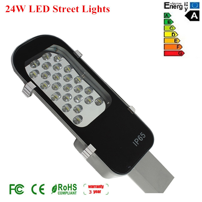 24W LED Street Light Road Lamps Outdoor Yard light Garden path light  AC85-265V Waterproof IP65 2400LM 1W*24PCS Cree Chips<br><br>Aliexpress