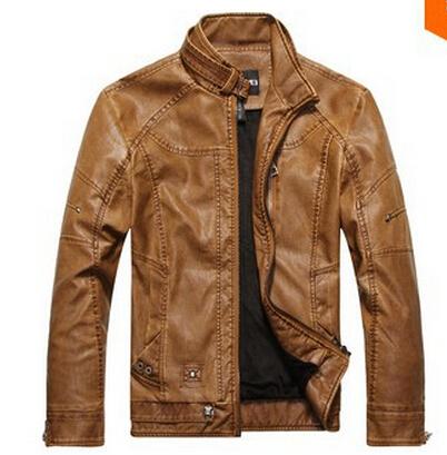 2015 new arrive men's spring winter genuine leather jacket men motorcycle sheepskin coat size M-2XL