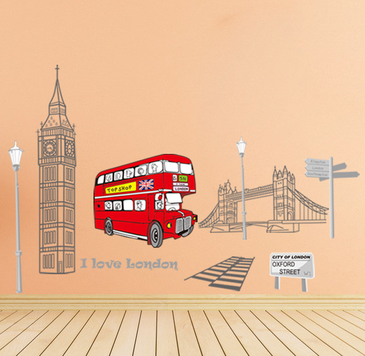 aliexpress com buy i love london home decor bus fashion shops in london chiltern street christmas trees