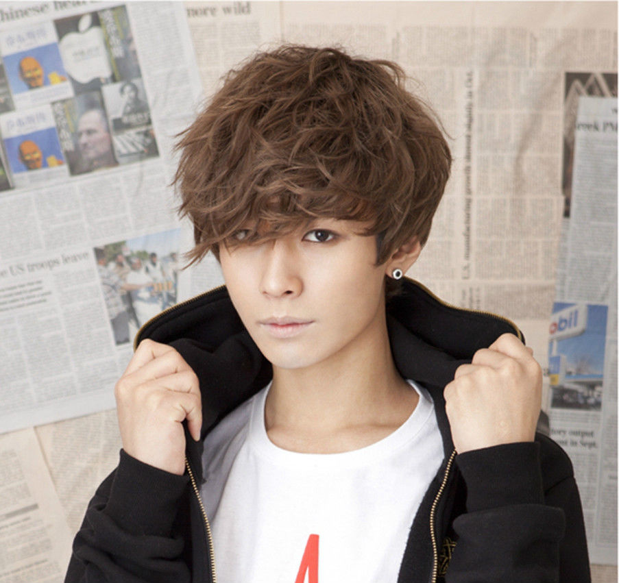 FREE SHIPPING Hot heat resistant Party hair>>>Handsome Boys Wig Korean Fashion Short Men Hair Cosplay Wigs(China (Mainland))