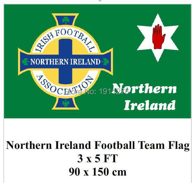 Northern Ireland Football Flag Red Hand Ulster Loyalist Soccer Sports Game For 2016 Euro Cup(China (Mainland))