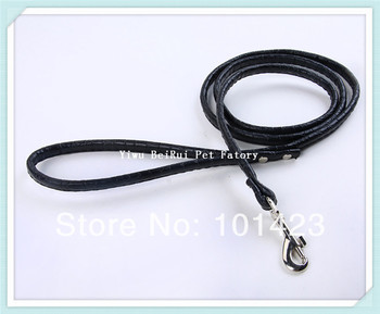 Free Shipping Berry 48inch PU Leather Rolled Dog Leash for Small Dogs