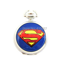 new DC Universe Superman Superhero Fashion Pocket Watch Necklace Free Shipping