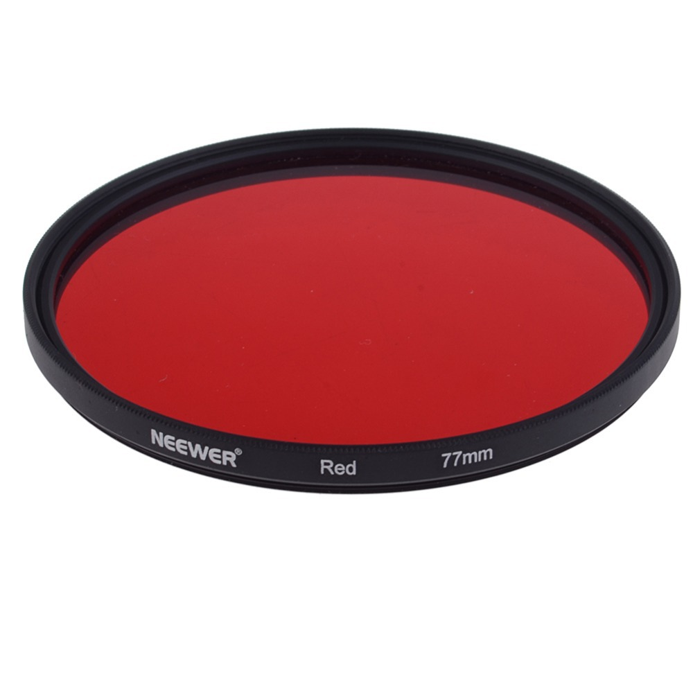 Neewer 77mm 77 mm full red Color lens Filter for canon nikon pentax and Other Camera Lens with 77mm Filter Thread Free Shipping(China (Mainland))