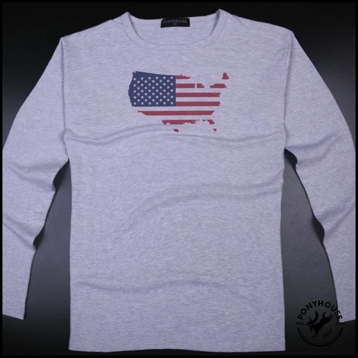 Гаджет  2015H tshirt SLU FLAG MAP OF THE youth USA men