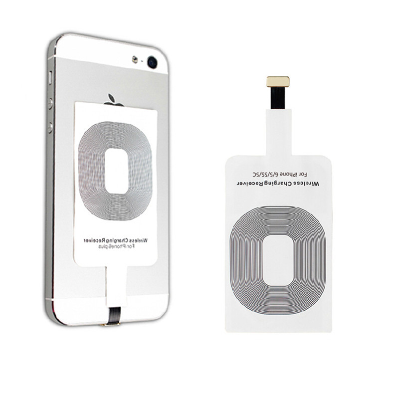 Portable Qi Standard Smart Wireless Charging Coil Receiver For iPhone 5/5C/5S 6 Free Shipping(China (Mainland))