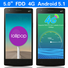 FDD-LTE 4G 5″ Cell Phone Android 5.1 MTK6735 64-bit Quad Core  RAM 1GB ROM8GB Unlocked Quad Band AT&T WCDMA GPS QHD mobile phone