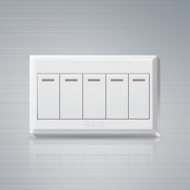 New 86 -type surface mounted switch panel five switch 2 way double control wall light switch 1pcs(China (Mainland))