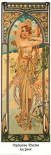 High quality,Daytime ,Alphonse Mucha oil painting canvas,Hand-painted,Portrait Modern Art Reproduction,