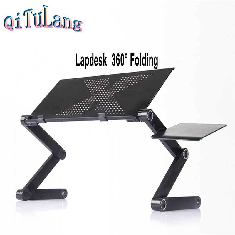 Lapdesk Folding Table Stand for Bed Portable Sofa Laptop Table Foldable Notebook Stand Desk Laptop Stand Folding+ Mouse Pad(China (Mainland))