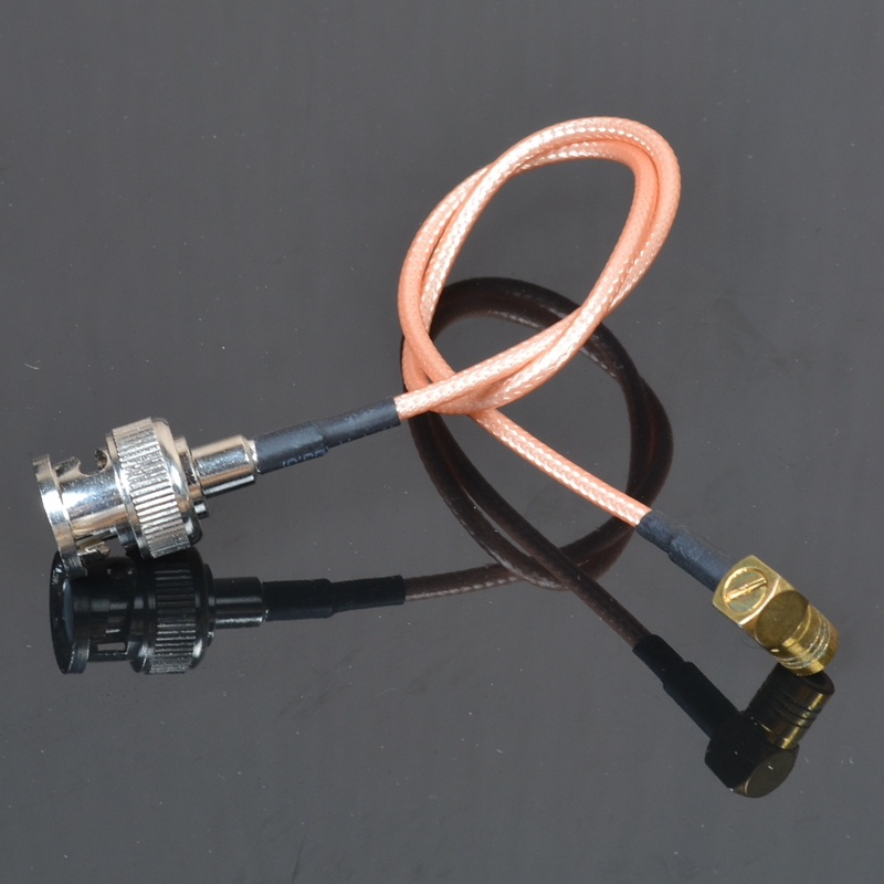 Sindax 50 ohm BNC male to SMB female right angle 50-1.5 silver plated RG316 cable 20cm freeshipping(China (Mainland))