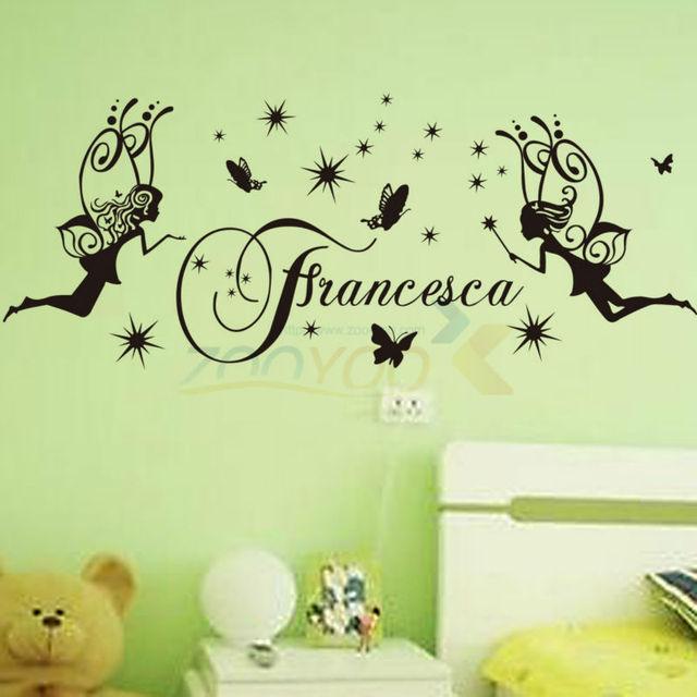 Франческа девушки номера творческий на стены ангел бабочка виниловые наклейки милые мультфильм детская комната стикер