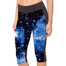 Galaxy Star Night 3d Print Women Plus Size Capris Leggings Sport Fitness Pants Outdoor Training Gym Clothes Ropa Mujer 2016(China (Mainland))