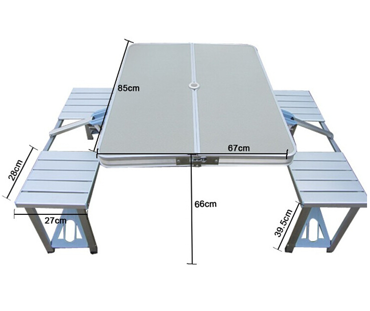 Free shipping 120 60 55cm portable camping folding table for Compact table and chairs set
