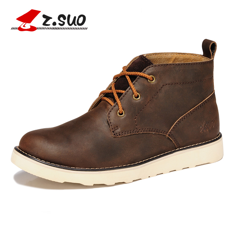mens winter boots 2014 genuine leather s ankle boots