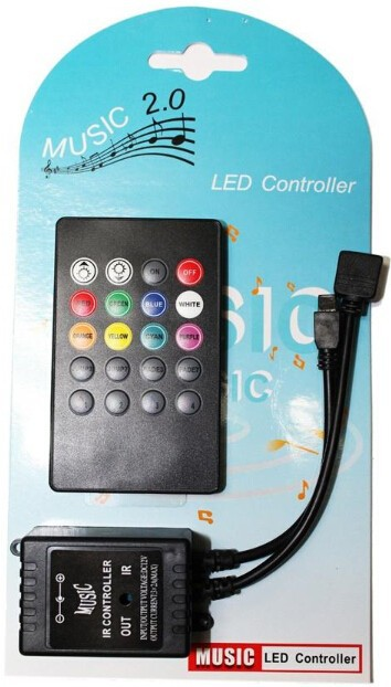 Free Shipping Wireless IR Remote Control LED Music Sound Control RGB led Controller 12V 24V 20Keys for RGB LED Strips(China (Mainland))
