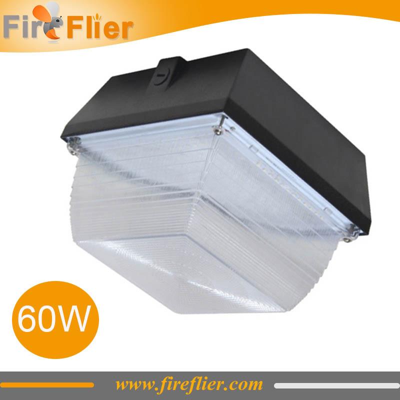 FREE Freight 4pcs/lot 50w 60w gas station light led canopy lamp surface mounted led ceiling lighting garage led fixture 6000K(China (Mainland))