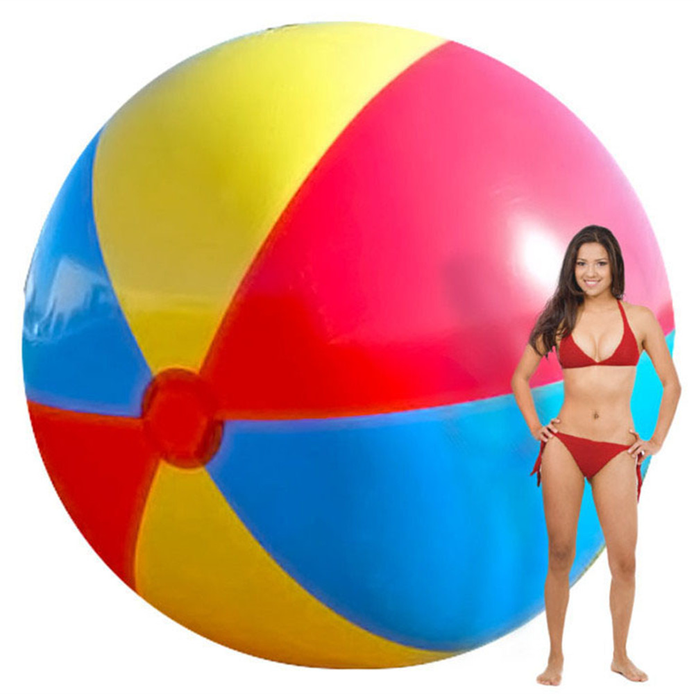 2M Giant Inflatable Colorful Beach Ball Inflated Swimming Pool Kids Toy Balls Outdoor Fun Hot Toys Children Birthday Party Favor(China (Mainland))