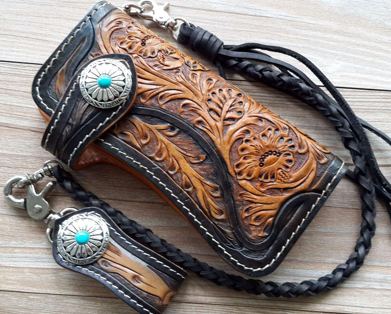 Wallet Saddle Leather Leather Cowhide Wallet
