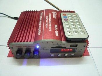 4 Channel Digital Power Car Amplifier w/ Remote Control + USB/SD/FM/MMC Player (AM100)