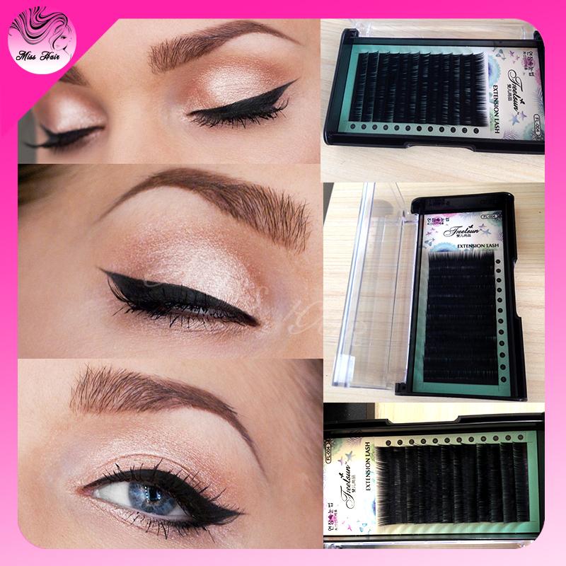Eyelashes Individual High Quality False Eyelashes 5PCS Soft Black Natural Fake Eyelashes Accord to Need SyntheticHair(China (Mainland))