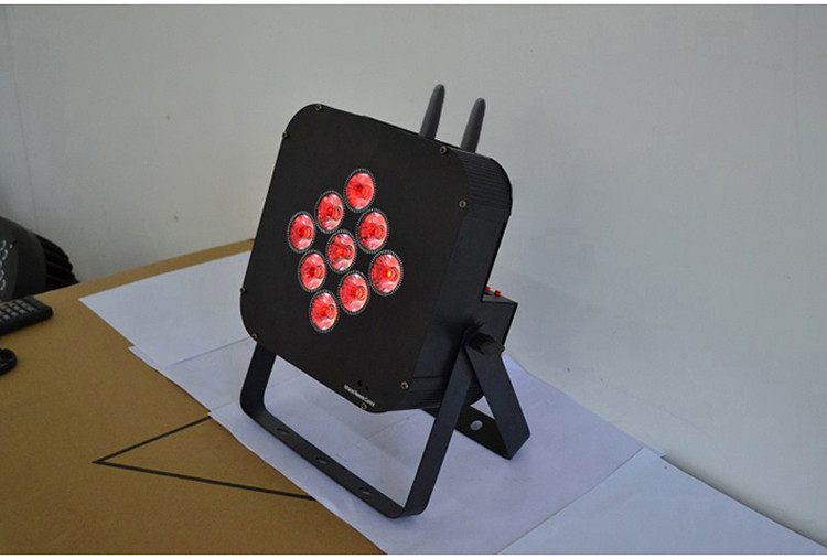 Built-in App 9PCS 12W RGBWA+UV 6IN1 Battery Operated DMX Wireless Led Uplighting With Iphone, Ipad, Android Phone control