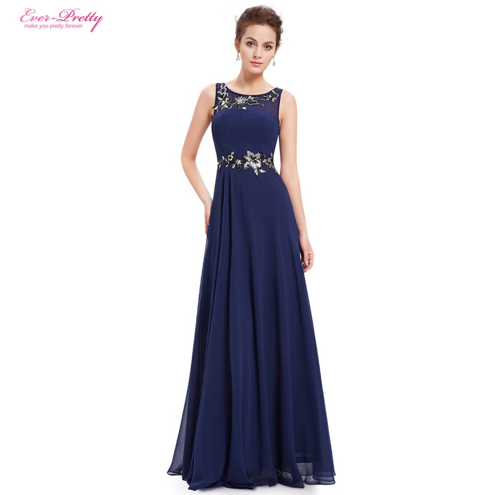Mother of the bride dresses women navy blue round neck for Navy blue dresses for weddings