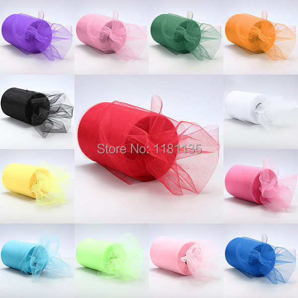 Pick Color Matt Tulle Roll Spool 6inch x 100yard (6inch x 300ft) Tutu Wedding Gift Party Bow 20D Banquet Decoration Free Ship(China (Mainland))