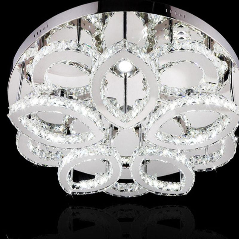 Купить Бесплатная доставка современные лепестки стиль потолок светодиодные лампы, D80cm роскошные цветок потолочный светильник, светодиодные потолочные светильники гостиная освещение