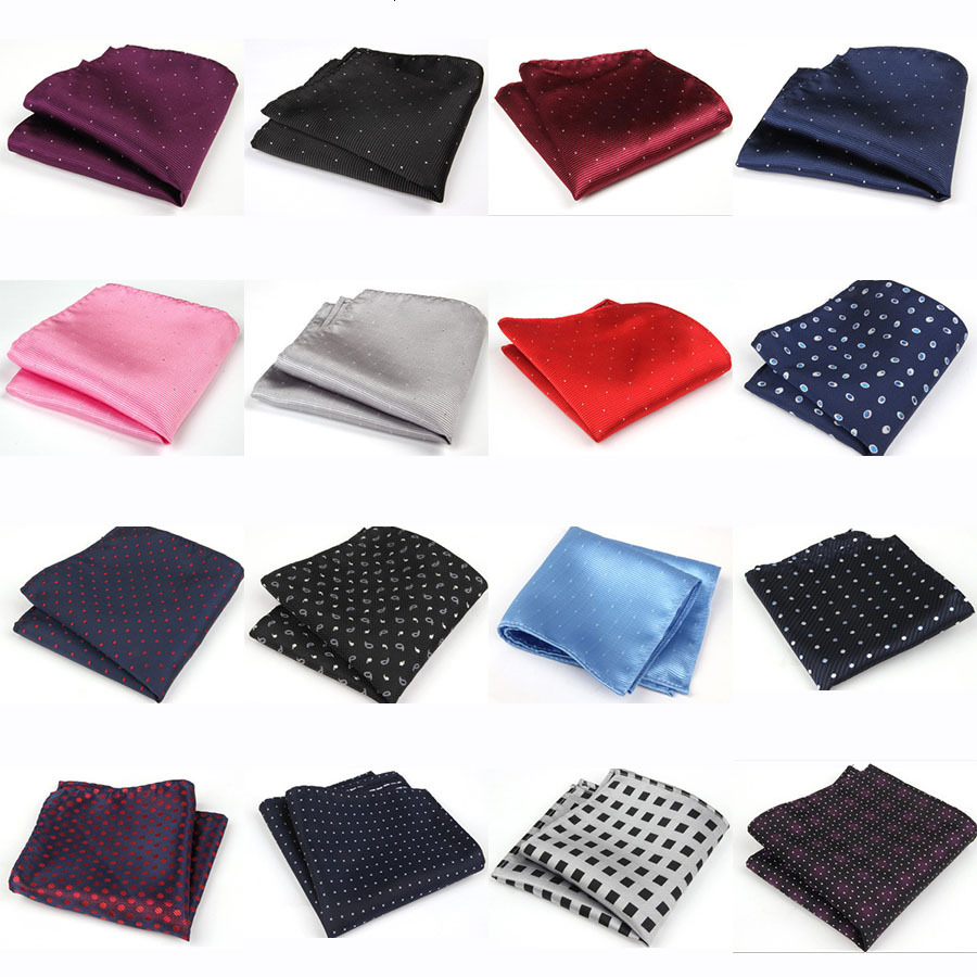 20 Styles Men's Pocket Square Upscale Polyester Fashion Handkerchief Towel For Accessories Formal Geometric Hankerchief MHGZ016(China (Mainland))