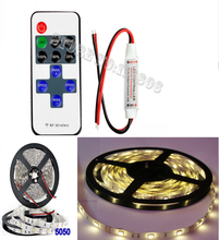 Buy MINI Wireless RF remote LED Controller RF Dimmer + 5M 12V 2A WaterProof 5050 150 LEDs Warm White Flexible LED Strip Light for $18.81 in AliExpress store