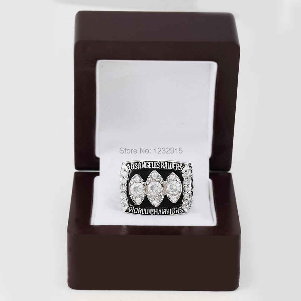 replica NFL 1983 SUPER BOWL XVIII LOS ANGELES RAIDERS CHAMPIONSHIP RING fans Boutique Collect copper solid plating +WoodenBox(China (Mainland))