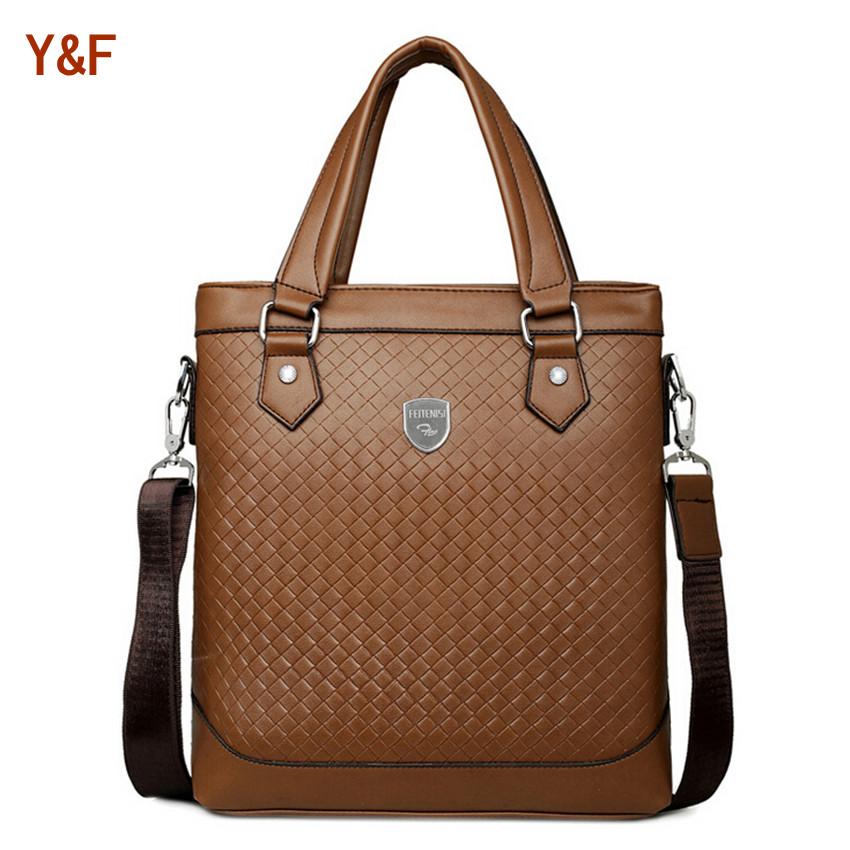 Brand Designs Men's Fashion Shoulder Bag Briefcase Cool Men Business Totes Messenger Bags Brown Travel bag F272(China (Mainland))