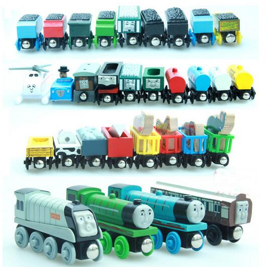 5PCS Thomas and His Friends Wooden Magnetic Trains Model Great Kids Christmas Toys Gifts for Children Friends Anime Age 3+(China (Mainland))