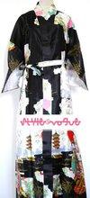 Sexy Black Chinese Women's Silk Rayon Robe Kimono Bath Gown S M L XL XXL XXXL Free Shipping WS-13(China (Mainland))