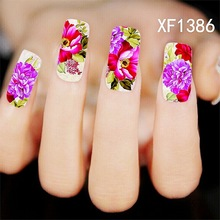 1 Sheet nail stickers nail jewelry nail supplies wholesale flower row of pens (China (Mainland))