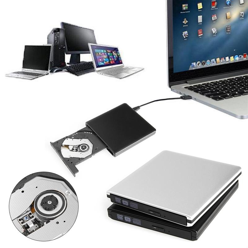 New USB 3.0 Aluminum Lightscribe DVD 8X External Burner CD RW Writer ROM Drive