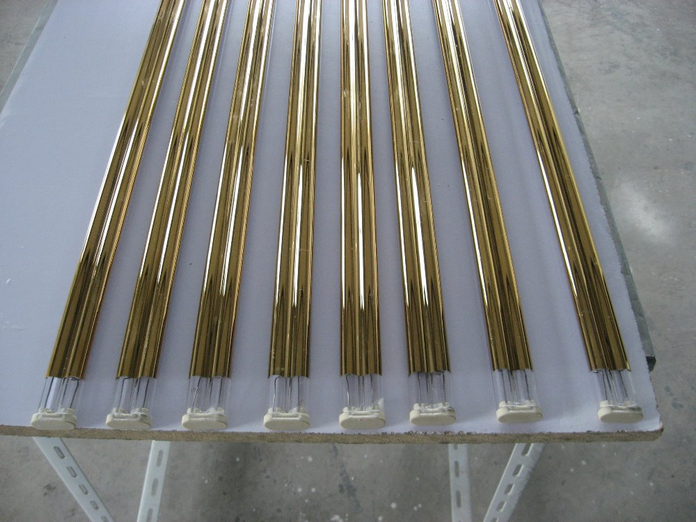 twin tube gold coating Quartz infrared drying lamps 2000w(China (Mainland))