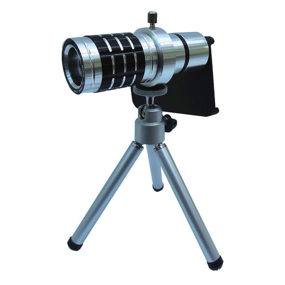 12X Zoom Optical Aluminum Alloy Telescope Fisheye Macro Wide Angle Camera Lens + Tripod Case iPhone 5 - Smarcent (HK store Inc.)