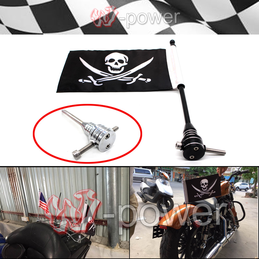 For the Harry Davidson XL883 XL1200 Chrome Motorcycle logo pole and the pirate flag(China (Mainland))
